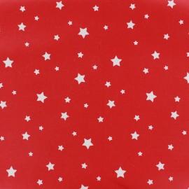 Tissu enduit coton Scarlet rouge x 10cm