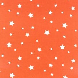 Tissu enduit coton Scarlet orange x 10cm