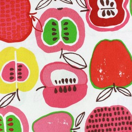 Tissu coton Apple of my eye - In the kitchen rouge x 60cm