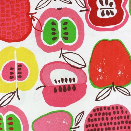 Tissu coton Apple of my eye - In the kitchen rouge x 60cm