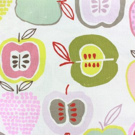 Tissu coton Apple of my eye - In the kitchen rose x 60cm