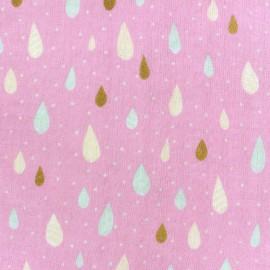 Tissu Kokka double gaze de coton Raindrop rose x 10cm