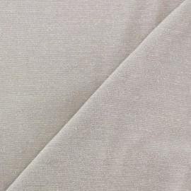 Viscose lurex Stitch Fabric Party - ecru x 10cm