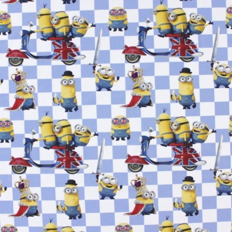 Jersey fabric The Minions - England x 22cm