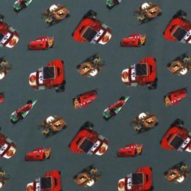 Tissu Jersey Cars gris x 17cm