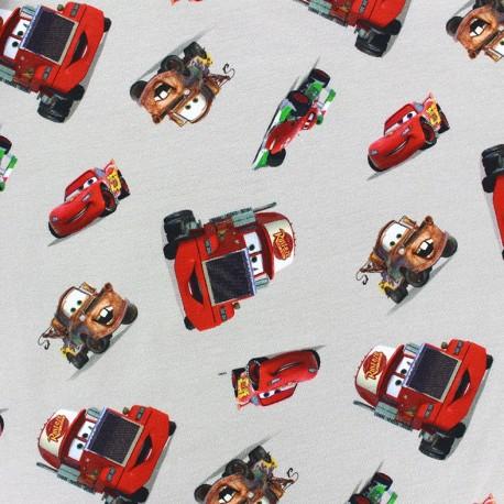 Jersey fabric Cars - grege x 17cm