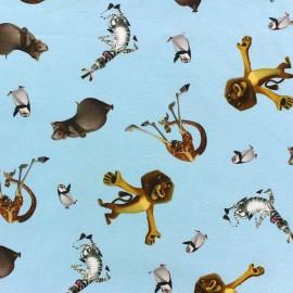 Jersey fabric Madagascar - blue x 32cm