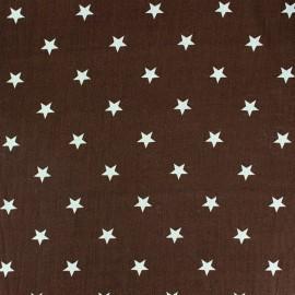 Tissu coton Qjutie Kids Stars beige/marron x 10cm