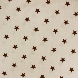 Tissu coton Qjutie Kids Stars marron/beige x 10cm