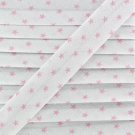Biais Coton Etoiles - Rose x 1m