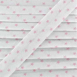 Cotton Bias Binding - Pink Star x 1m
