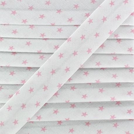 Bias binding, pink stars - white
