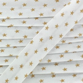 Bias binding, beige stars - white