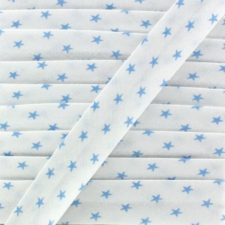 Bias binding, light blue stars - white