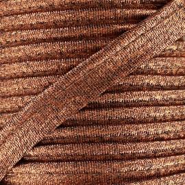 Passepoil Lurex cuivre antique