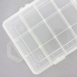 Boîte de rangement 21 compartiments ajustables