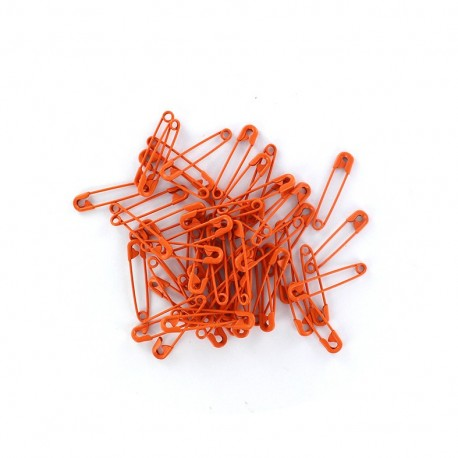 Safety pin Color - orange (x 50)