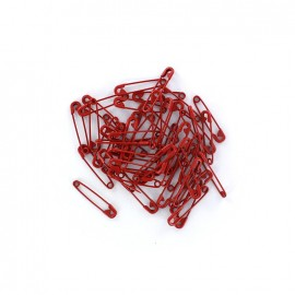 Safety pin Color - red (x 50)