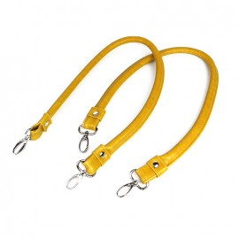 Imitation leather bag-handles Color - saffron