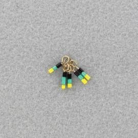 seed beads pendant - Neon