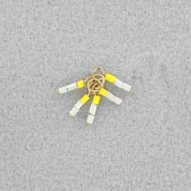 seed beads pendant - sorbet