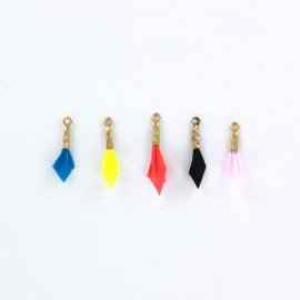 Plume pendant - Neon - set of 5