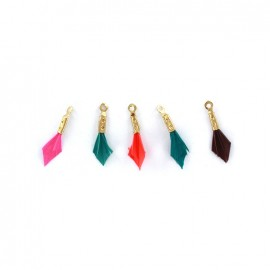 Plume pendant - Koralle - set of 5