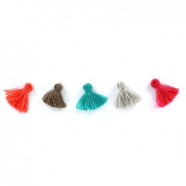 Pompons Koralle - set of 5