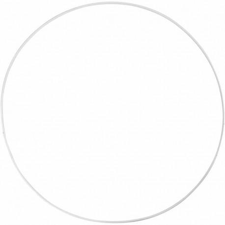Metal ring - white