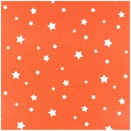 Tissu coton cretonne Scarlet - orange x 10cm