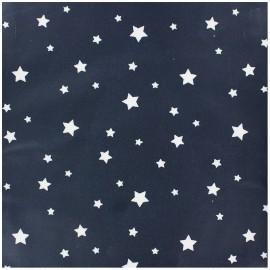 Tissu coton cretonne Scarlet - marine x 10cm