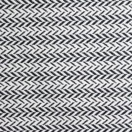 ♥ Coupon tissu 190 cm X 140 cm ♥ Jacquard Orlando - noir et blanc