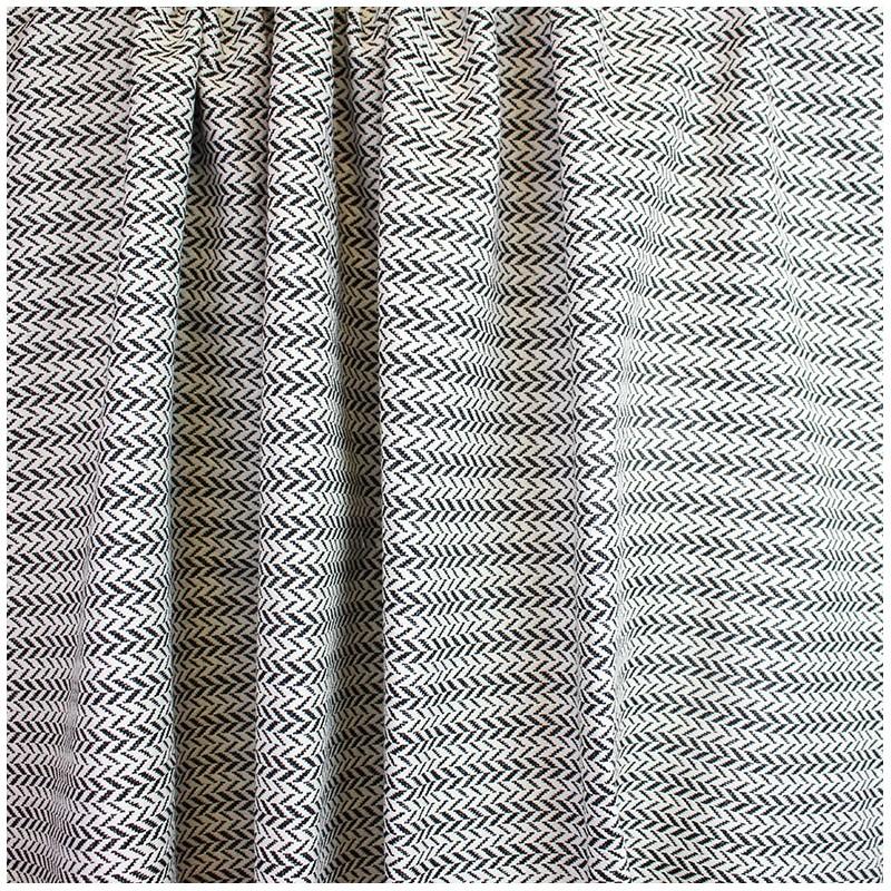 tissu jacquard orlando noir et blanc. Black Bedroom Furniture Sets. Home Design Ideas