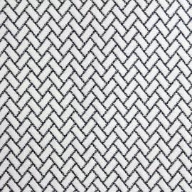 Jaquard Atlanta fabric - black and white x 10cm