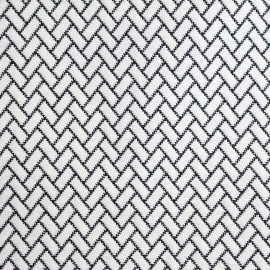 Tissu Atlanta noir et blanc x 10cm