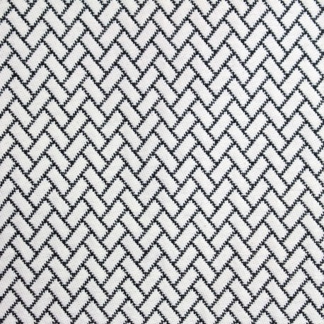 Atlanta fabric - black and white x 10cm