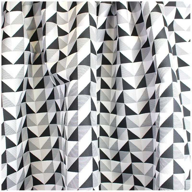 tissu jacquard tissu berlingot triangle noir et blanc. Black Bedroom Furniture Sets. Home Design Ideas