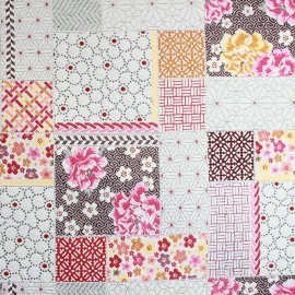 Saya patch Fabric - fuchsia x 39cm