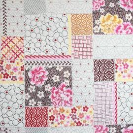 Saya patch Fabric - fuchsia x 40cm