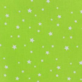 Tissu coton cretonne Scarlet - anis x 10cm