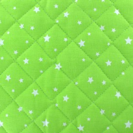 Quilted cotton fabric Scarlet - lime green x 10cm