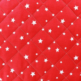 Tissu matelassé Scarlet rouge x 10cm