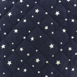 Quilted cotton fabric Scarlet - navy x 10cm