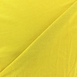 Light Sequined Viscose Jersey Fabric - mustard x 10cm