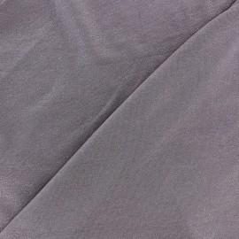 ♥ Coupon 120 cm X 150 cm ♥ Tissu jersey viscose léger pailleté bleu ardoise