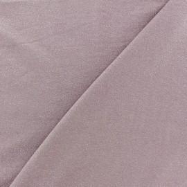 Tissu jersey viscose léger pailleté rose ancien x 10cm
