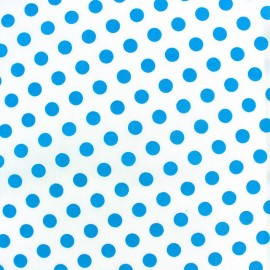Dots Fabric - turquoise / White x 10cm