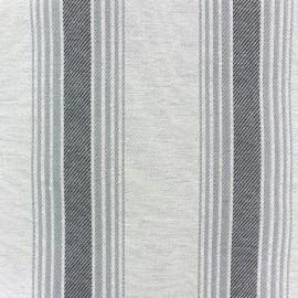 Tissu toile Blanes gris x 10 cm