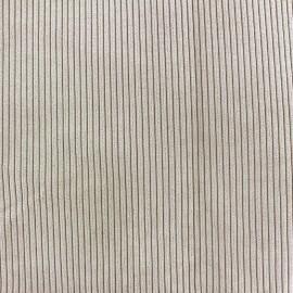 Tissu velours à grosses côtes entoilé Pana beige x 10 cm