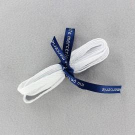 Flat shoe laces Milo - white (x2)